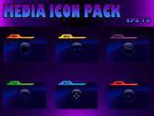 Media icon pack — Stock Vector