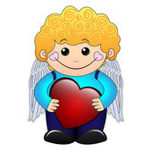 Cupid boy — Stock Vector