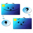 Stock Vector: Dialogue of credit cards