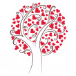 Stock Vector: Tree of hearts