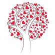 Tree of hearts - Vettoriali Stock