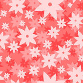 Pink art vector pattern. Seamless flower background — Stock Vector