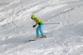 Young girl skiing — Stock Photo