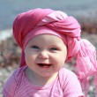 Baby girl on the beach — Stock Photo #42278887