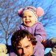 Father and toddler daughter — Stock Photo #42448907