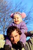 Father and toddler daughter — Stock Photo