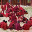Tibetan monks — Stock Photo