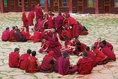 Tibetan monks — Stock Photo