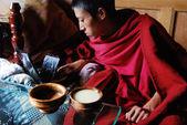 Tybetańskich mnichów — Zdjęcie stockowe