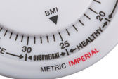 Body mass index meter — Stock Photo