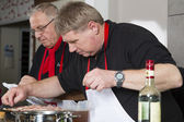 Two chefs at work — Stock Photo
