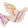 Colourful Bird Word Cloud — Stockfoto