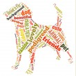 Colourful dog Word Cloud — Stock Photo