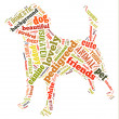 Colourful dog Word Cloud — Stock Photo #31339295
