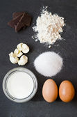 Simple ingredients for cake — Stock Photo