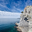 Castle of Camogli, Italy - Stock Photo