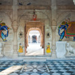 India, Bikaner. Entrance of a palace - Stock Photo