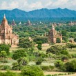 bagan landscape with temples — Stock Photo