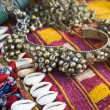 Indian bangle and needlework — Stock Photo