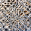 Pattern on a wooden gate — Stock Photo