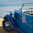 Retro blue car — Stock Photo #19739067