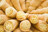 Creamy pastry rolls — Stock Photo