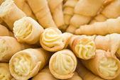 Creamy pastry rolls — Stock Photo