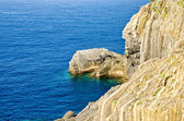 Rocks on the coast of Mediterranean sea — Stock Photo