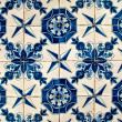 Blue and White tiles - Stock Photo