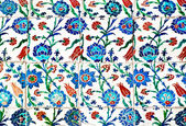 Blue and white old tiles — 图库照片