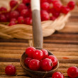 Red currant in a spoon — Stock Photo