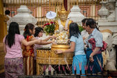 In the Shwedagon paya, Burma. — Stock Photo