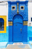 Moroccan Blue Door — Stock Photo