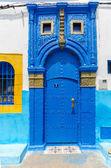 Moroccan Blue Door — Stock Photo