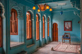 Interior of the city Palace in Udaipur — Stock Photo