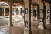 Interior of Bundi Palace, India — Stock Photo