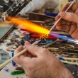 Stock Photo: Glass blower work