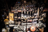 Old cameras in a market — Stock Photo