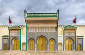 Entrance of the royal palace of Fez — Stock Photo