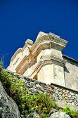 Tellaro, Italy, ancient church on the sea. — Stock Photo