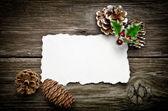 Greeting card for Christmas — Stock Photo