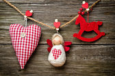 Christams red ornament — Stock Photo