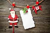 Christmas card with Santa — Stock Photo