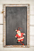Blackboard with santa claus — Stock Photo