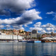 Panorama of the old harbour, Genoa, Italy — Stock Photo