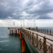 Marina di Pietrasanta, peer on the sea, Italy, storm, cloud, coast, Versilia — Stock Photo