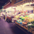 The Mercato Orientale, in Genoa, Liguria. Market, fruit, colorful, Italy — Stock Photo