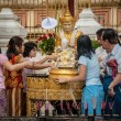 People in the Shwedagon paya, Burma. — Stockfoto