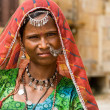 Beautiful rajasthani woman — Stok fotoğraf