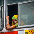 Stock Photo: Jaipur, young womon bus